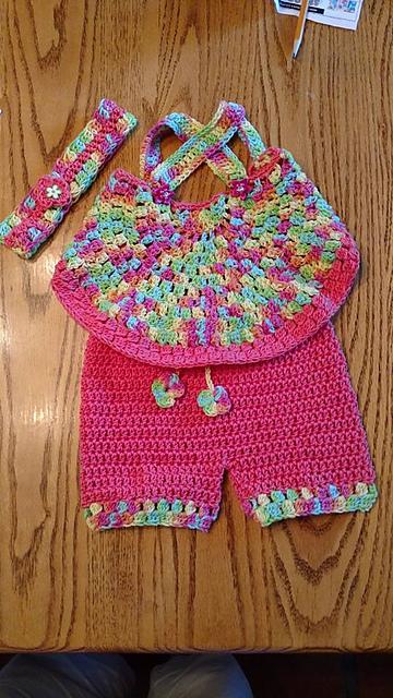 crochet baby shorts