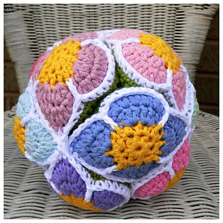 Amish Puzzle Ball Instructions.Ravelry Flower Amish Puzzle Ball Pattern By Dedri Uys