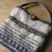 Mini felted bag with peerie patterns pattern