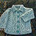 Aran Baby Set - cardigan pattern