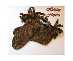 flapper socks-holiday-ravelry