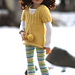 "Skirted Sweater-CH for Helen Kish's 14"" Chrysalis Dolls pattern"
