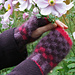 Anemone fingerless mittens pattern