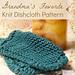 Grandma's Favorite Knit Dishcloth pattern