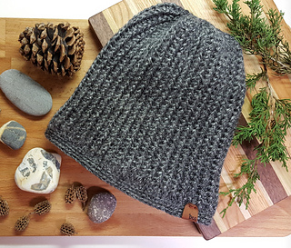 Men's Large Beanie in Lion Brand Heartland Great Smoky Mountains