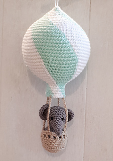 Amigurumi Elephant and balloon. Amigurumi Elephant and flower. | Etsy | 320x225