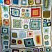 Granny Square Sampler Afghan pattern