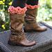 Crocodile Stitch Boot Toppers pattern