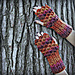 Crocodile Stitch Mini-Scale Gloves pattern
