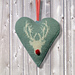 Stag heart Christmas decoration pattern
