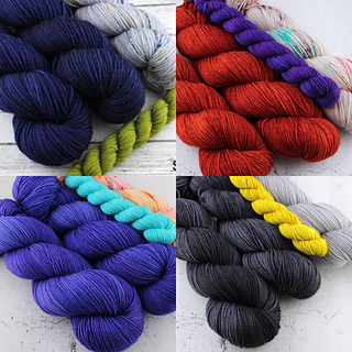 Old Rusted Chair yarns kits --- available now!