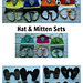 Paw Patrol hat mitten sets pattern