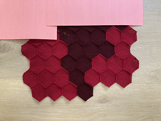 Data from September. Five rows of hexagons, with red on edges and dark red in the middle.