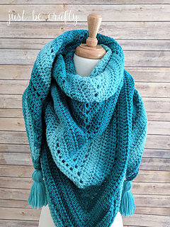 Ravelry: Crochet Triangle Shawl pattern by Brittany Coughlin