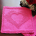 Two Hearts as One Dishcloth pattern