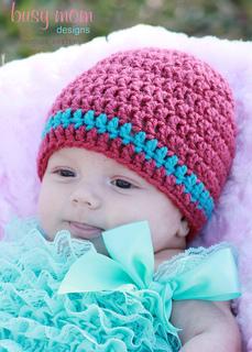 Stripe Crochet Beanie Hat Pattern: Child Size