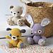 Amigurumi cuties - bunny, puppy and teddy pattern