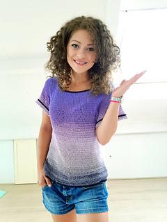 Basic T-Shirt, camiseta de ganchilo diseñada por ByKaterina