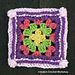 Groovy Cluster Granny Square pattern