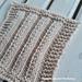 Fancy Slip Stitch Rib Square pattern