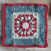 Framed Puff Cluster Wheel Square pattern