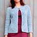 One button diagonal jacket pattern