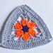 Granny Triángulo Flor a Crochet pattern