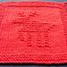 Christmas Reindeer Knitted Dishcloth pattern
