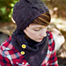 Garter Cable Hat pattern