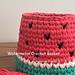 Watermelon Crochet Basket pattern