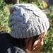 Bonnet à torsades pattern