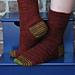 Gentleman's Sock in Railway Stitch pattern
