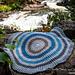 Round Waffle Stitch Blanket pattern