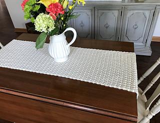 Ravelry Crochet Farmhouse Table Runner Pattern By Peg Barrows