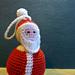Père Noël a suspendre pattern