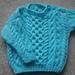 Gavin baby toddler aran sweater pattern