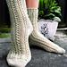 Double Lace Rib Toe-up Socks pattern