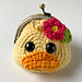 Darla the Duck Coin Purse pattern