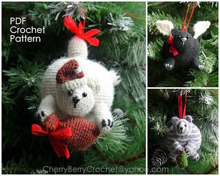 Crochet Christmas Ornaments Pattern.Christmas Cats Ornaments Pattern By Cherry Berry Crochet