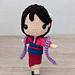 Mulan Princess Amigurumi pattern