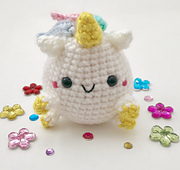 Pudgy Unicorn Amigurumi  choco apple shop