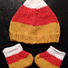 Candy Corn Hat and Booties (Hat) pattern