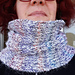 Simple brioche cowl, sideways pattern