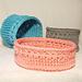 Tidy up Baskets pattern
