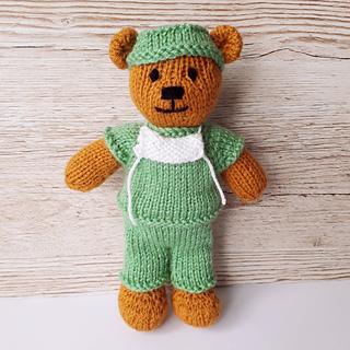 Teddy Bear Jo-Jo Doll Knitting Pattern