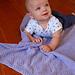 Moss Stitch Diamonds Baby Blanket pattern