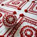 Christmas Scandinavian Heart Blanket pattern