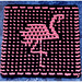 Flamingo Shores Kitchen and Spa Cloth pattern