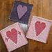 A Big Heart & Cupid's Dart pattern