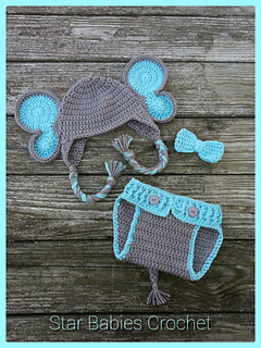 Ravelry: Elephant Hat and Diaper Cover for Boy or Girl pattern by ... | 320x240